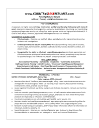 Resume For Police Officer Lovely Police Ficer Resumemple Objective