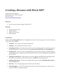 How To Make A Resume On Word Resume For Your Job Application