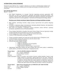 Sample Resumes For Mechanical Engineers Best of Automotive Mechanical Engineer Sample Resume Memory Design