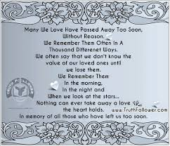 In Memory Quotes Best In Memory Of All Those Who Have Left Us Too Soon Memories Quotes