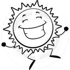 Image result for clipart sun black and white