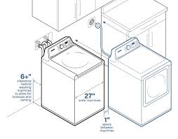 washer and dryer space requirements.  Requirements An Illustration Showing How Many Inches To Keep Between Your New Dryer And  The Wall With Washer And Dryer Space Requirements N