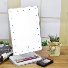 Lighted Makeup Cosmetic Vanity Mirror Tabletop 20 Led Light Touch Led Lights Vanity Mirror