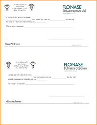 Fake Doctors Note Template Sick Notes For Work Free Dentist
