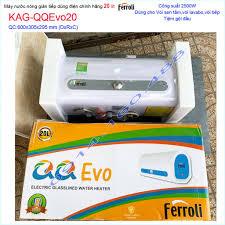 Máy nước nóng Ferroli QQ Evo 20 lít KAG-QQEvo20, bình nước nóng gián tiếp  20 lít chống giật hiệu suất sử dụng tốt - Máy nước nóng