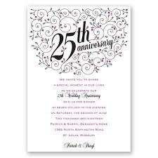 personalized wedding anniversary invitations awesome 25th anniversary invitation template