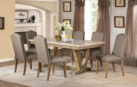 weathered wood dining table. Homelegance 5470-72-Set2 Jemez 6P Casual Weathered Wood Dining Table Set Faux Marble Top Chairs A