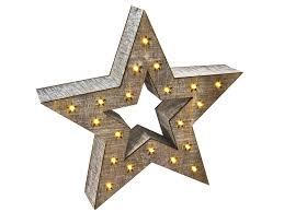 Deko Holz Stern 28 Cm 20 Led Warmweiß Fensterdeko Tischdeko Weihnachtsstern Beleuchtet Led Stern