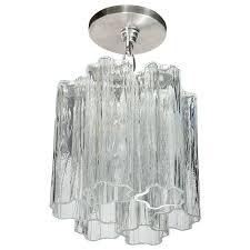 mid century modernist tronchi flush mount chandelier for