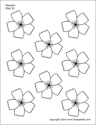 Flowers the above drawings courtesy of: Flowers Free Printable Templates Coloring Pages Firstpalette Com