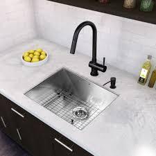 Retractable Kitchen Faucet Vigo Industries Vg02008mb Universal Matte Black Pullout Spray