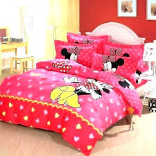 Minnie Mouse Comforter Twin Full Size Disneyr Gray White Bedroom Set ...