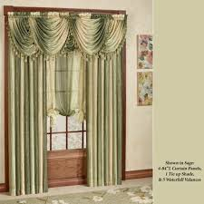 amazing swag shower curtain attached valance with window curtains ds and valances