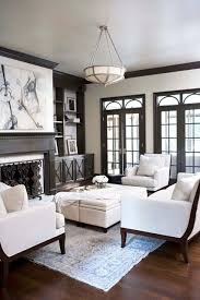 Dark Trim Light Walls Classy Design Inspiration Interiors Pinterest Dark Wood Trim Light