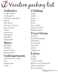 Printable Holiday Checklist Packing Download Them Or Print