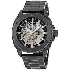 fossil modern machine automatic skeleton dial men s watch me3080