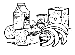Small Picture Coloring Page Food Food arts and crafts Pinterest Meat
