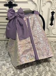 iridescent and lavender car seat canopy
