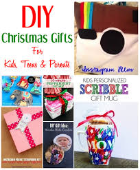DIY Christmas Gift Ideas For Kids Teens U0026 ParentsChristmas Diy Gifts For Kids