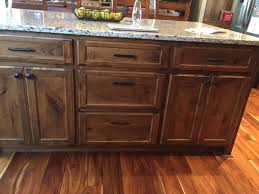 custom rustic knotty alder island cabinet stillwater mn