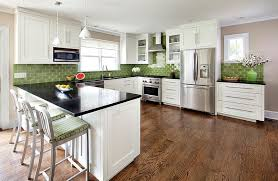 View in gallery A classy and elegant way of using green in the kitchen