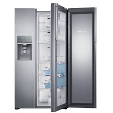 Samsung 21.5-cu ft Side-by-Side Refrigerator with Ice Maker and Door