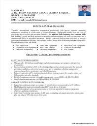 Sample Resumes For Electrical Maintenance Engineer Resume