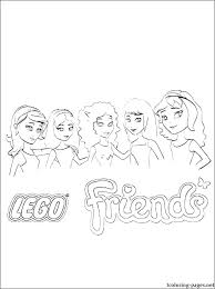 Lego Friends Coloring Sheets Friends Coloring Friends Coloring Pages