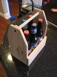 picture of wooden 6 pack holder