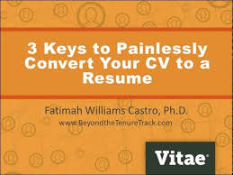 Convert Resume To Cv Higher Ed Jobs Administrative Jobs and Faculty Career Advice 86