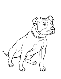 Small Picture Free Pit Bull Coloring Page