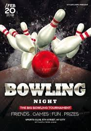 Bowling Event Flyer Bowling Psd Flyer Template