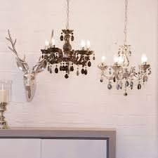 5 lt chandelier silver marie therese ceiling light with free led bulbs litecraft