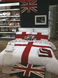 st georges flag bed linen with union jack accent pieces