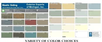 Mitten Siding Color Chart 78 Logical Gentek Aluminum Colors Chart