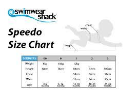 Speedo Swimwear Size Chart Swimwear Shack Online Swimwear