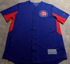 Details About Chicago Cubs Cool Base Jersey Large Royal Blue Majestic Mlb