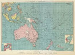 Details About Australasian Polynesian Ports Sea Chart Lighthouses Mail Routes Large 1959 Map