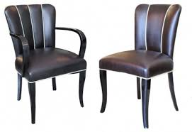 12 french art deco dining chairs and two arm chairs en suite art deco dining suite