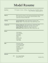 Model Resume Templates For Ms Word Free Example Format Download