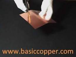 16 gauge copper sheet copper sheet thickness guide 10 mil 30 gauge youtube