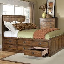 Natural Wood Bedroom Furniture Modern Storage Queen Beds Platform Bed Type Wood Frame Material 6