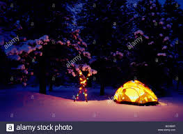 Camping Christmas Lights Winter Camping In Lit Tent W Christmas Lights Colorado