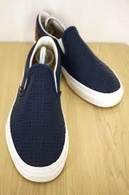 vans vans sneakers men blue system us 9 slip on leather slip