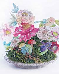 Paper Flower Arrangements Watercolor Paper Flower Arrangement Martha Stewart