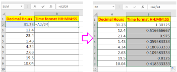 How To Convert Decimal Hours Minutes To Time Format In Excel