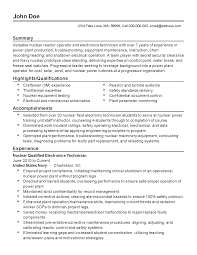 Power Plant Mechanic Sample Resume Professional Nuclear Reactor Operator Templates to Showcase Your 1