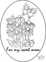 Voor Mama Kleurplaten Moederdag