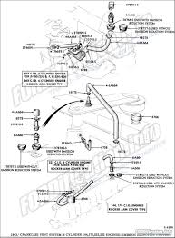 Engine related schematics the ford crankcase vent system cylinder engines emission reduction engine diagrams