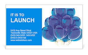 Happy Birthday Business Card Party Balloons Blue Translucent Happy Birthday Anniversary Graduation Retirement Cyan Decoration F Business Card Template
